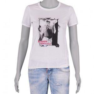 Dolce & Gabbana Freddie Mercury White Tee Sz40 NWT